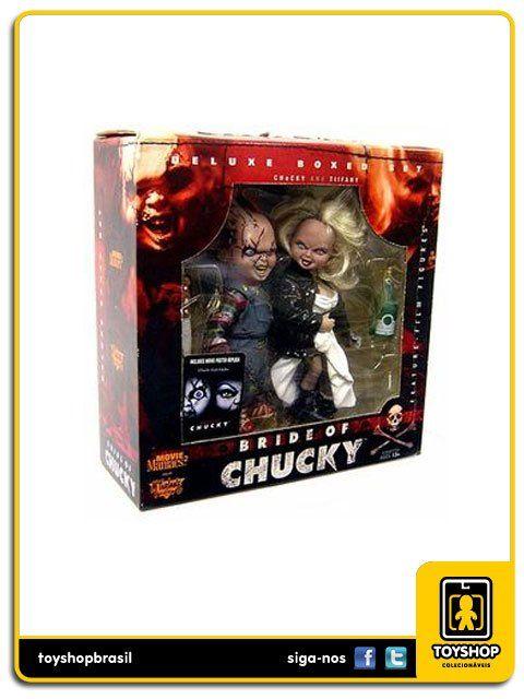 Movie Maniacs Bride of Chucky Deluxe Set Chucky & Tiffany  Mcfarlane