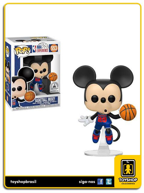 NBA Experience Basketball Mickey Exclusivo Pop Funko