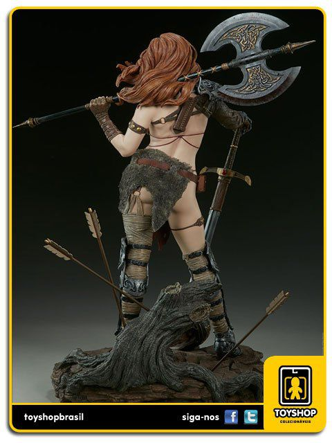 Queen of Scavangers Premium Format Estátua Red Sonja Sideshow Collectibles