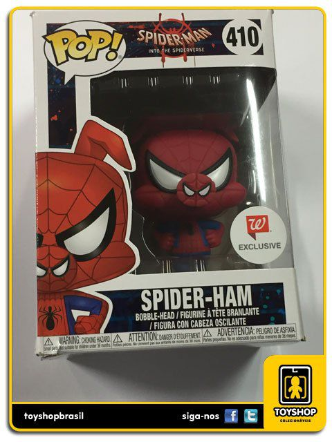 Spider Man Spider Ham Exclusivo 410 Pop Funko