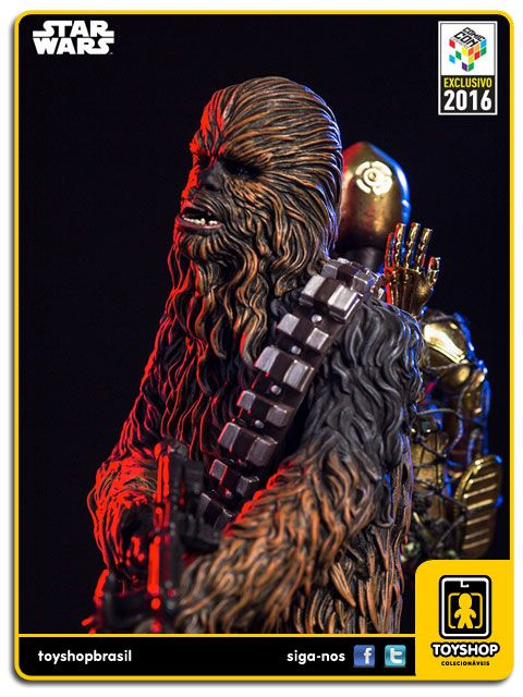 Star Wars Chewbacca with C-3PO CCXP16   Art Scale 1/10 Iron Studios
