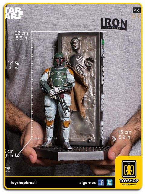 Star Wars Ep. V Boba Fett & Carbonite Han Solo Deluxe 1/10 Art Scale Iron Studios