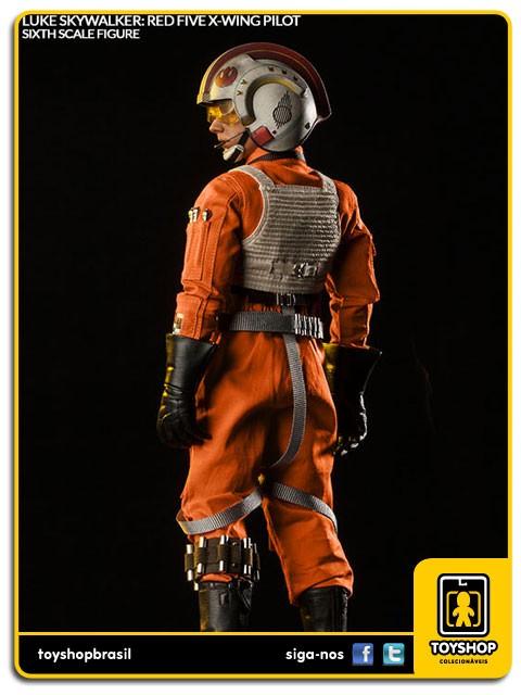 Star Wars Luke Skywalker Red Five X-Wing Pilot Sixth Scale 1/6  Sideshow