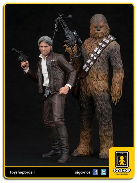 Star Wars The Force Awakens Han Solo & Chewbacca  Pack 1/10 ArtFX Kotobukiya