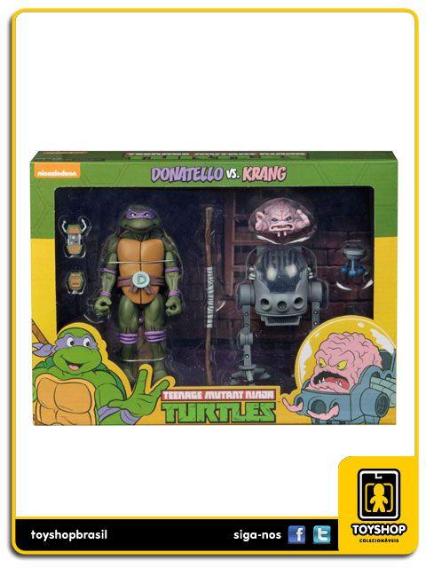Teenage Mutant Ninja Turtles Donatello Vs. Krang  Cartoon 2 Pack Neca