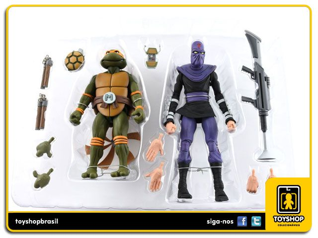 Teenage Mutant Ninja Turtles Michelangelo Vs. Foot Soldier Cartoon 2 Pack Neca