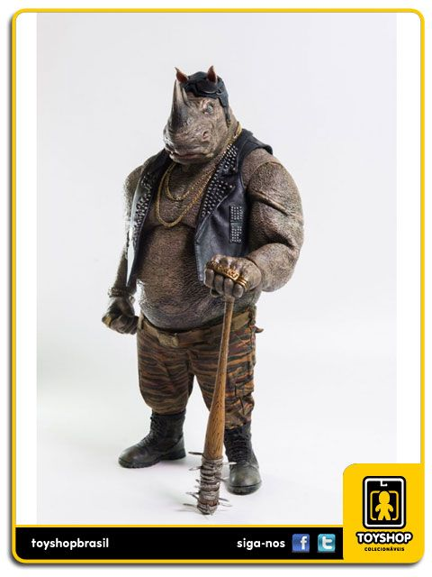 Teenage Mutant Ninja Turtles Rocksteady 1/6 Threea