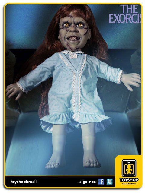 The Exorcista Mega Scale Talking Regan Macneil  38 Cm Com Sons Mezco