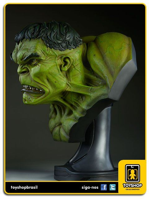 The Incredible Hulk Life-Size 1:1 Bust Prop Replica  Sideshow Collectibles