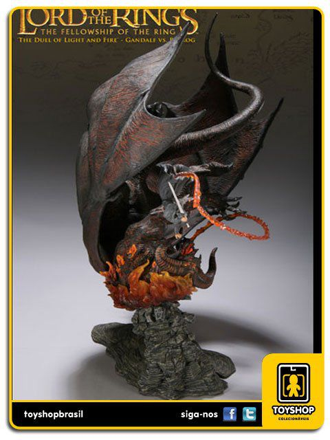 The Lord Of The Rings: The Duel of Light and Fire Gandalf VS Balrog - Sideshow Collectibles