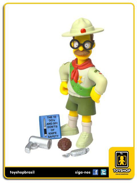 The Simpsons Scout Leader Flanders Playmates