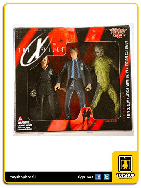 The X-files Box Set Fox Mulder, Agent Dana Scully e Attack Alien Mcfarlane