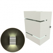 Arandela 2 Frisos Moderna,  Soquete Comum Eco E27, Para Ambientes Internos e Externos Mf131