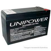 Bateria Selada 12V 7A Recarregável p/ Alarme ou Cerca Elétrica - UNIPOWER