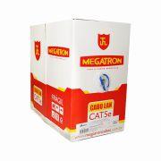 Cabo de Rede Lan Azul CAT5e Megatron 305 mts Homologado Anatel