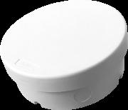 Caixa de Sobrepor Cftv Redonda Ip66 Tamborim Branca Multitoc