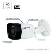 Câmera Bullet Infravermelho AHD LV5280B  HD 720P 2,8mm Luxvision