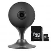 Câmera Interna com Inteligência Artificial iM3 Intelbras Wi-Fi Full HD 1080P 2,8mm 2MP Preta + Cartão de Memória De 64GB