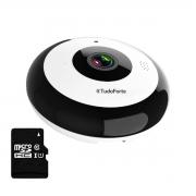 Câmera IP Fisheye 360º Full HD Wi-fi 2MP Onvif Áudio Cam-5706 Para Teto + Cartão de Memória