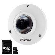 Câmera IP Fisheye Intelbras VIP 5500 F 5MP, Microfone Embutido, H.265 + Cartão De Memória