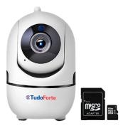 Câmera IP Sem Fio Wifi Full HD 1080p, Com Áudio, Infravermelho 10m, Com Cartão de Memória e Reconhecimento de Movimento