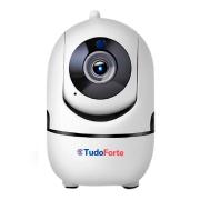 Câmera IP Sem Fio Wifi Full HD 1080p, Com Áudio, Infravermelho 10m, Grava em Cartão SD, Com Reconhecimento de Movimento