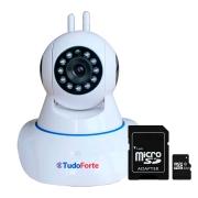 Câmera IP Sem Fio Wifi HD 1080p Robo Wireless, Com áudio, Com Cartão SD, com 2 Antenas e Visão Noturna