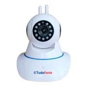 Câmera IP Sem Fio Wifi HD 1080p Robo Wireless, Com áudio, Grava em Cartão SD, com 2 Antenas e Visão Noturna