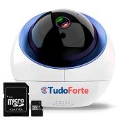 Câmera IP Sem Fio Wifi HD 1080p Wireless, Com áudio, Com Cartão SD, Auto Tracking e Sensor de Movimento