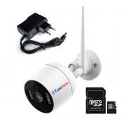 Câmera IP Wifi 2MP Infra 20m Tudo Forte - Onvif, Full HD, Bullet, Metal, Uso Externo e Interno CAM-5705 + Fonte 01A 12v + Cartão de Memória De 64GB