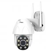 Câmera Mini Speed Dome Full Hd 1080p Infravermelho IP 2MP Lente 3.6mm IP66 com Audío e Wi-Fi, Função Auto Traking