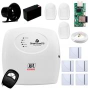 Central Alarme JFL SmartCloud 18 com 18 zonas + 5 Sensores Magnético Sem FioCentral Alarme JFL SmartCloud 18 com 18 zonas + 5 Sensores Magnético Sem Fio + 3 Sensores de Alarme Infravermelho + Módulo