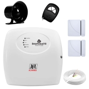 Kit de Alarme JFL SmartCloud 18 com 18 zonas + Sensor Magnético de Abertura + Cabo 4 Vias 0,50mm 10m + Sirene