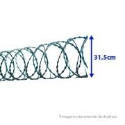 Cerca Concertina Dupla Clipada - Ouriço Duplo Clipado com 31,5 cm de diâmetro, Rende aprox. 5Mts de muro