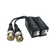 Conversor Balun Passivo Engate Rápido Multi HD HDCVI, HDTVI, AHD e CVBS Até 400 Metros