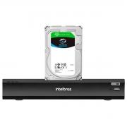 DVR Gravador Intelbras de Vídeo Digital Inteligência Artificial iMHDX 3008 Facial 8 Canais Full HD 4mp Lite + HD Para Armazenamento Skyhawk