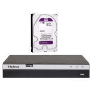 DVR Intelbras Full HD MHDX 3108, 08 Canais, Full HD 1080p, 4MP Lite - HDTVI, HDCVI, AHD, ANALÓGICO, IP + HD 1TB