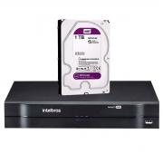 DVR Intelbras MHDX 1116 Multi HD de 16 Canais 1080p Lite + 2 Canais 6Mp IP + HD 1TB WD Purple (Não instalado)