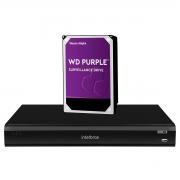 DVR iMHDX 3032 Intelbras Multi HD 32 Canais 5MP + HD Western Digital Purple