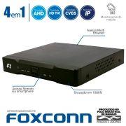 DVR Stand Alone 4 em 1 Focusbras HB5-1M04 - 4 Canais 1080N HDTVI, AHD, ANALÓGICO ou 8 Canais IP Full HD