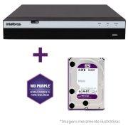 DVR Stand Alone Intelbras MHDX 3008 08 Canais Full HD 1080p Multi HD + 04 Canais IP 5 Mp + HD WD Purple 2TB