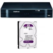 DVR Stand Alone Multi HD Intelbras MHDX-1016 16 Canais + HD 2TB WD Purple de CFTV