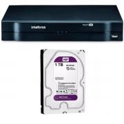 DVR Stand Alone Multi HD Intelbras MHDX-1104 + HD 1TB WD Purple de CFTV (Não instalado)