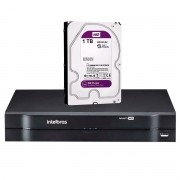DVR Stand Alone Multi HD MHDX 1108 de 08 Canais Intelbras + HD 1TB WD Purple para CFTV