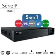 DVR Stand Alone  Tecvoz TW P3008 08 Ch 1080P  Flex 5 em 1 - HD-TVI / HDCVI / AHD / CVBS / IP