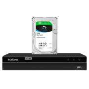 DVR Gravador de vídeo Intelbras 4 canais MHDX 1204 Detecção Inteligente de Movimento + HD Seagate SkyHawk 2TB