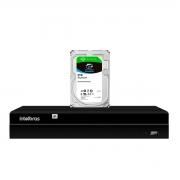 NVD Gravador Digital de Vídeo NVR  1404 - 4 Canais 8MP 4k Ultra HD Via rede IP + HD Para Armazenamento Skyhawk 2TB