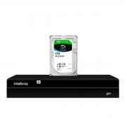 NVD Gravador Digital de Vídeo NVR  1404 - 4 Canais 8MP 4k Ultra HD Via rede IP + HD Para Armazenamento Skyhawk 3TB