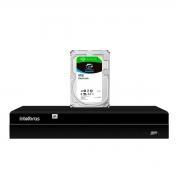NVD Gravador Digital de Vídeo NVR  1404 - 4 Canais 8MP 4k Ultra HD Via rede IP + HD Para Armazenamento Skyhawk 4TB