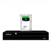 NVD Gravador Digital de Vídeo NVR  1404 - 4 Canais 8MP 4k Ultra HD Via rede IP + HD Para Armazenamento